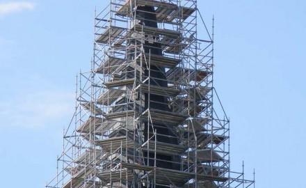 Andamio de acero en estructura civil